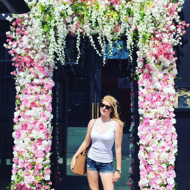 Flower arch in Chelsea