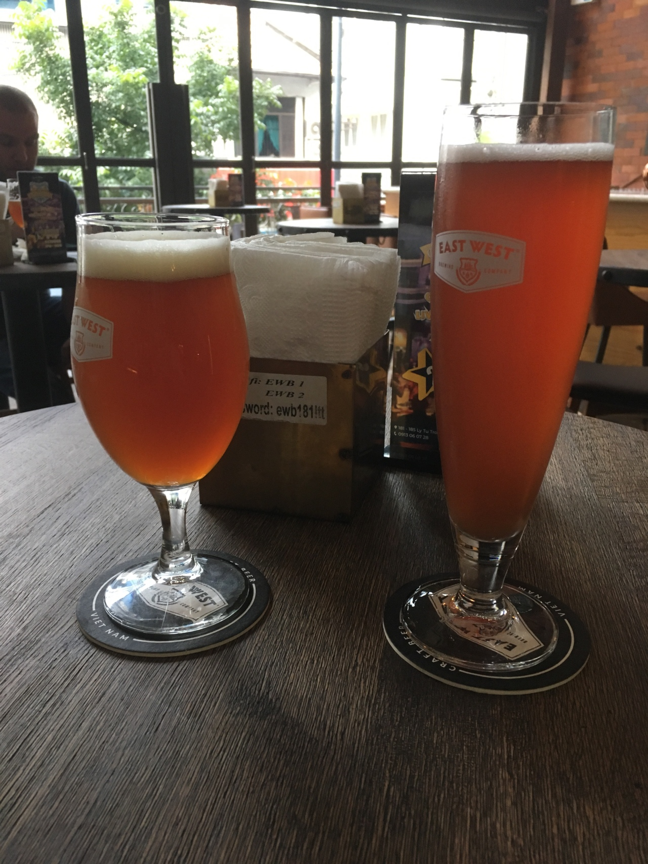 Beers at East West Brewery