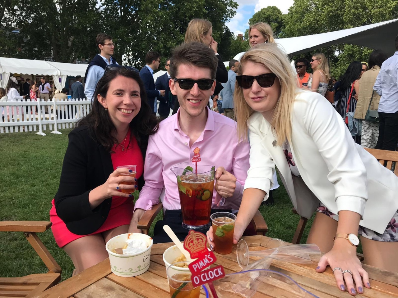 Pimms at polo in the park