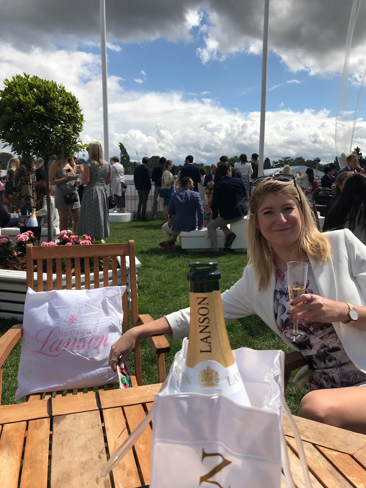 Lanson enclosure at Polo in the Park