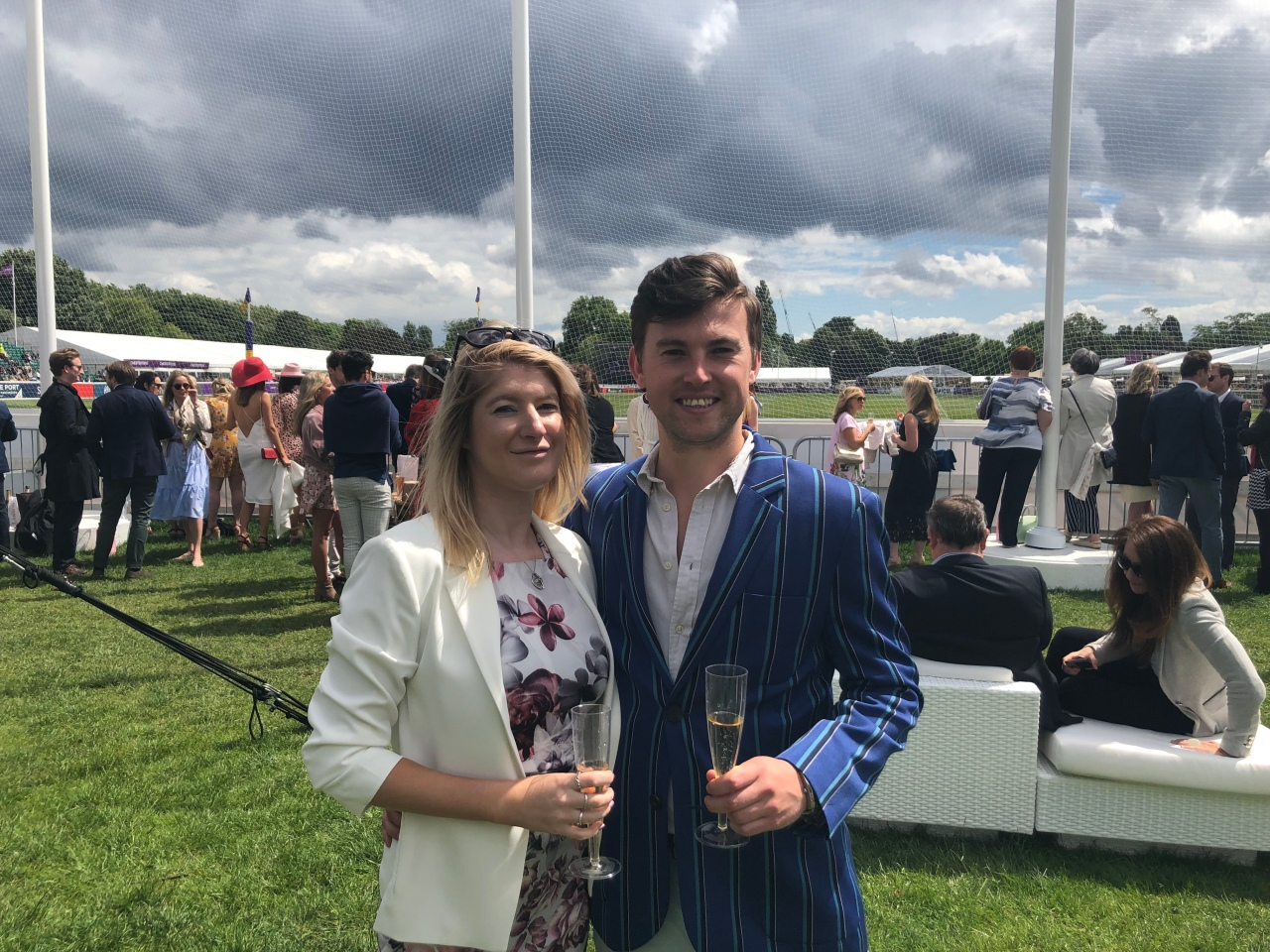 Couple at polo in the park