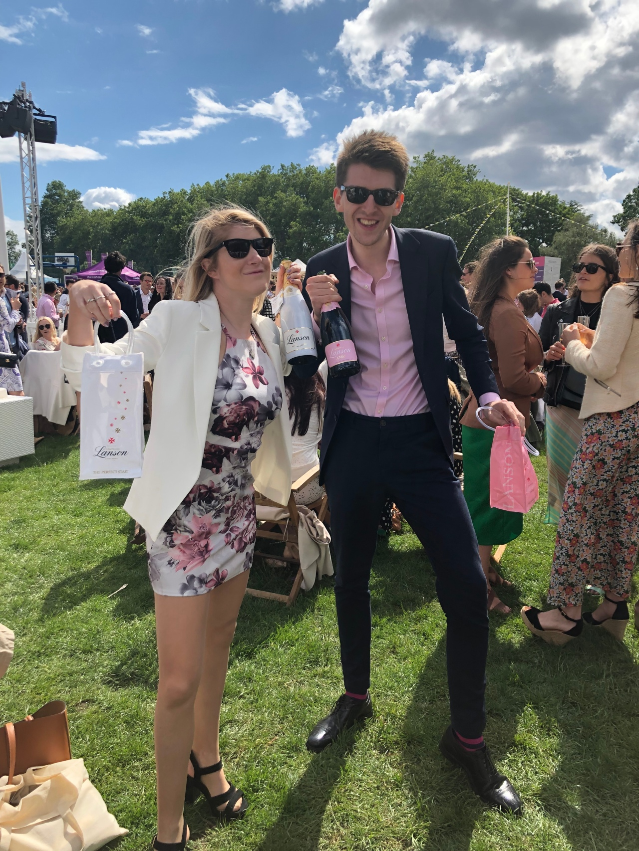 Lanson champagne at polo in the park