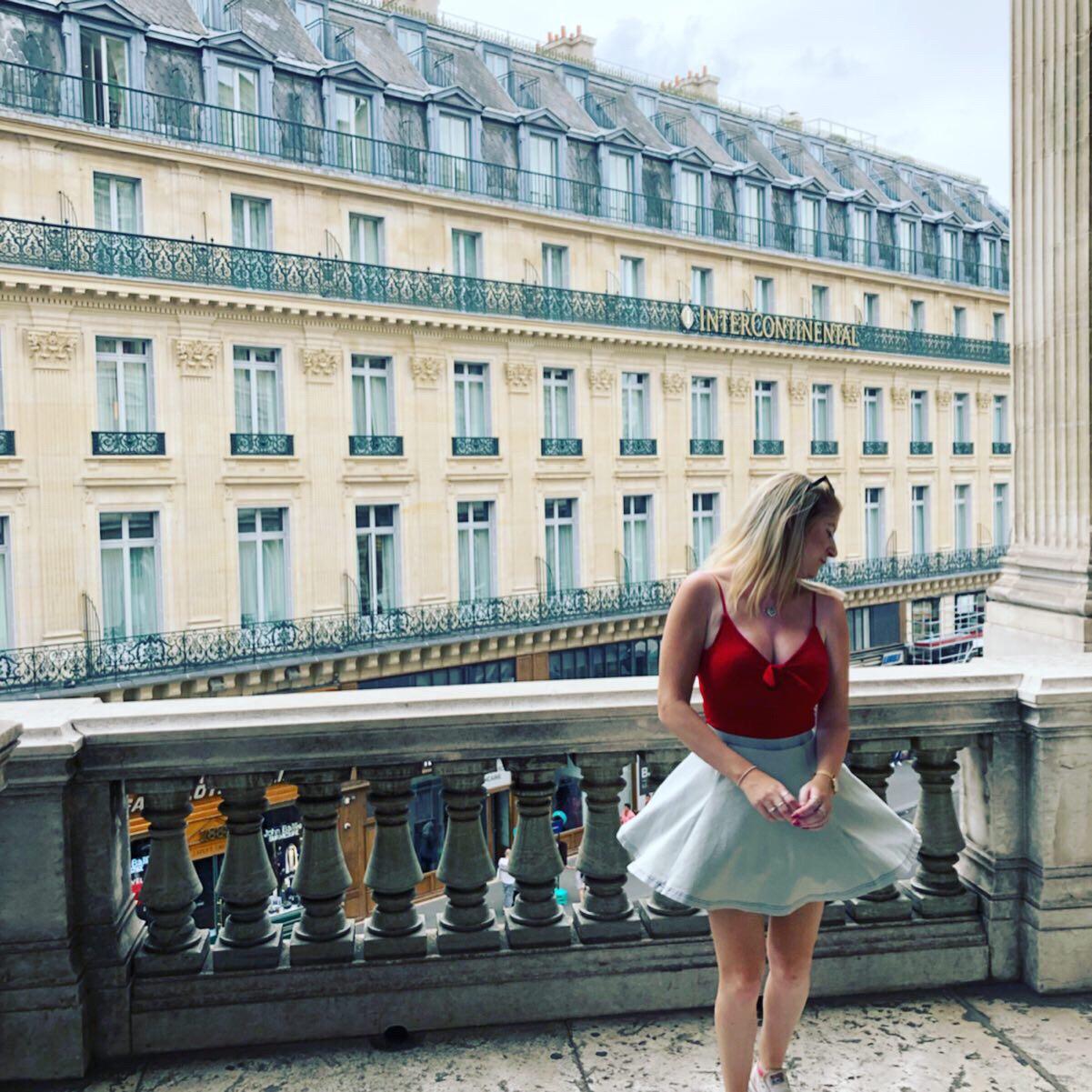 The balcony at Palais Garnier Paris
