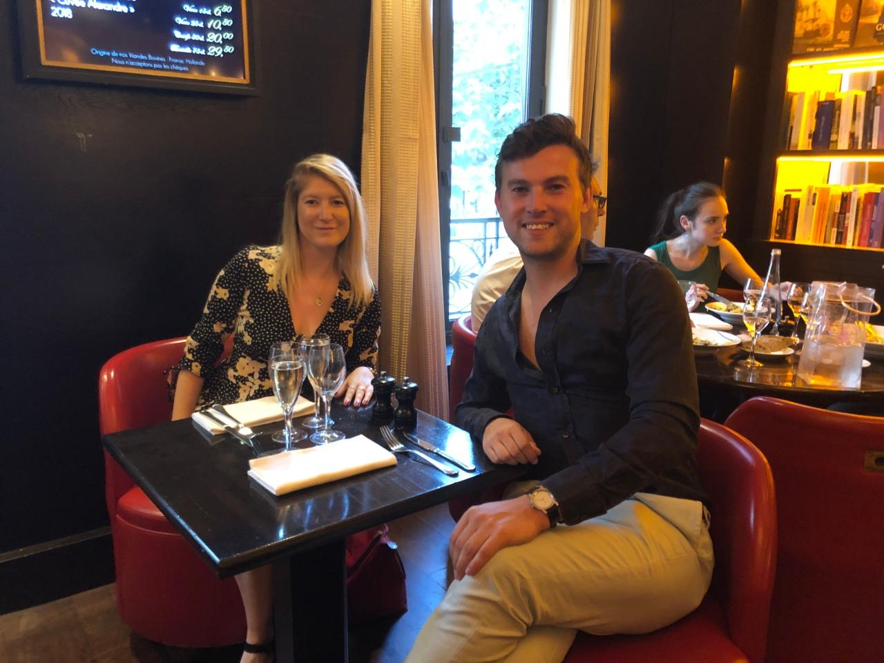 Dinner at Les Editeurs Paris