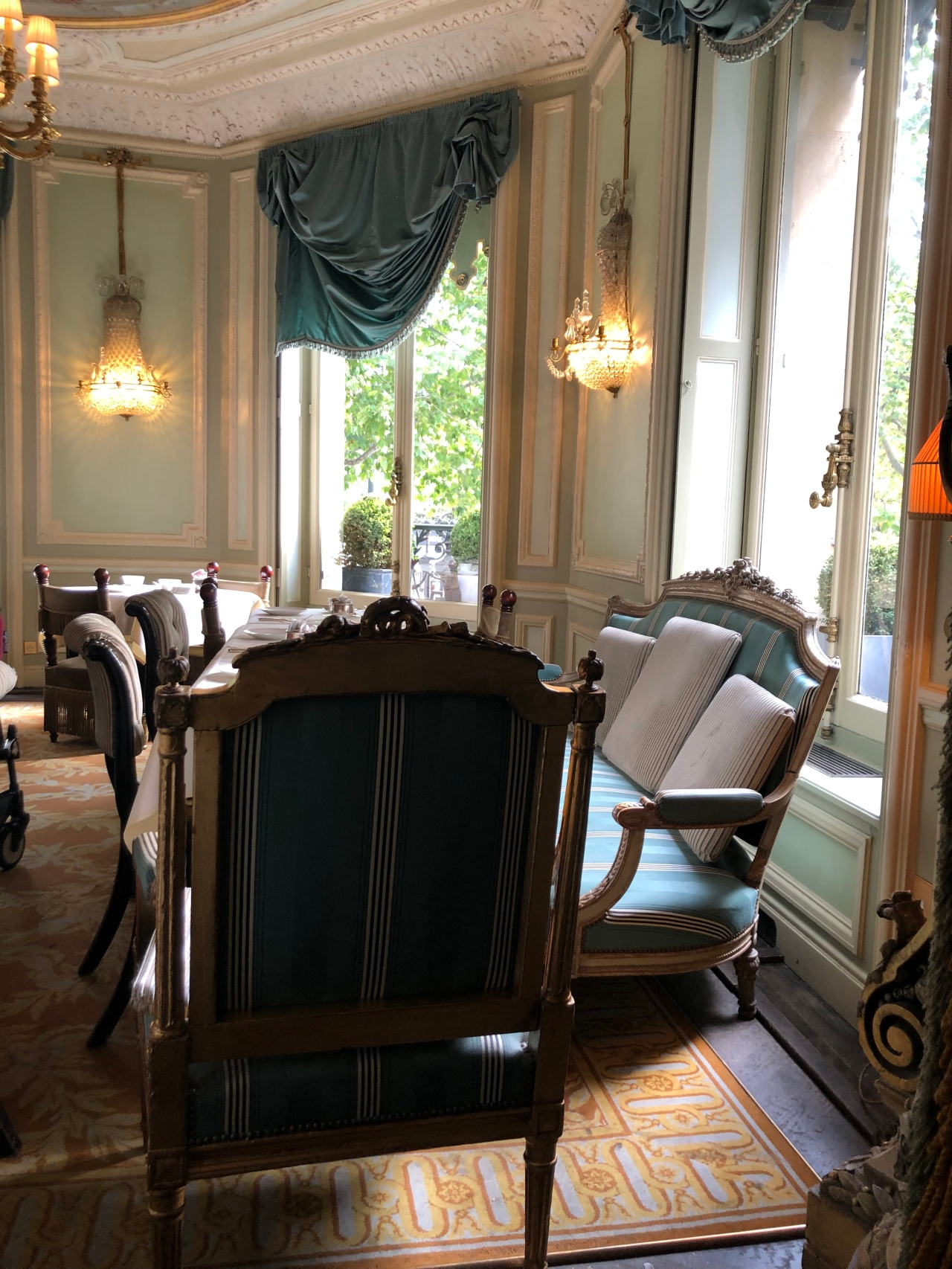 The beautiful interior of Laudree Champs Elysee