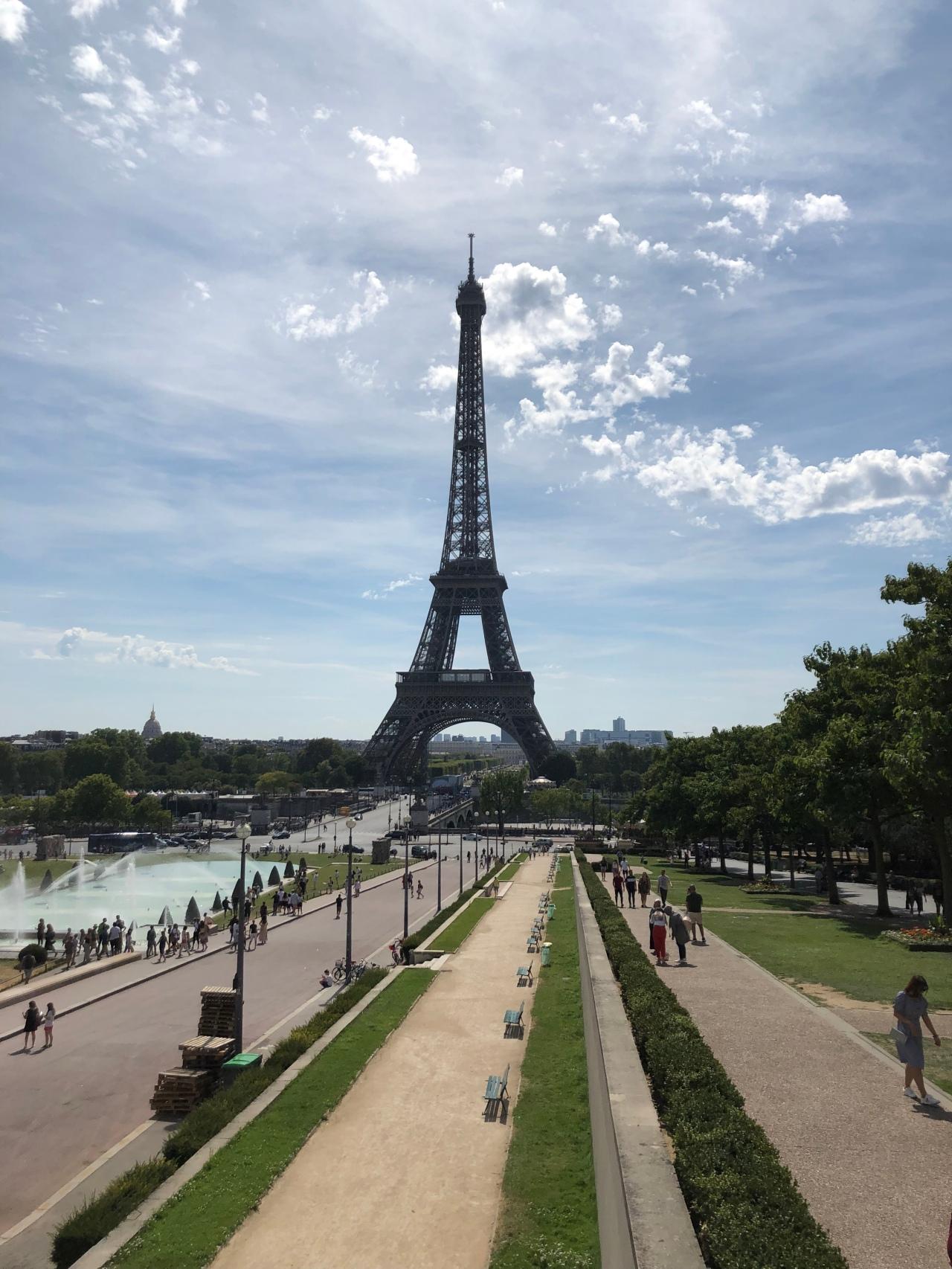 Trocadero Fountains Eiffel Tower Paris