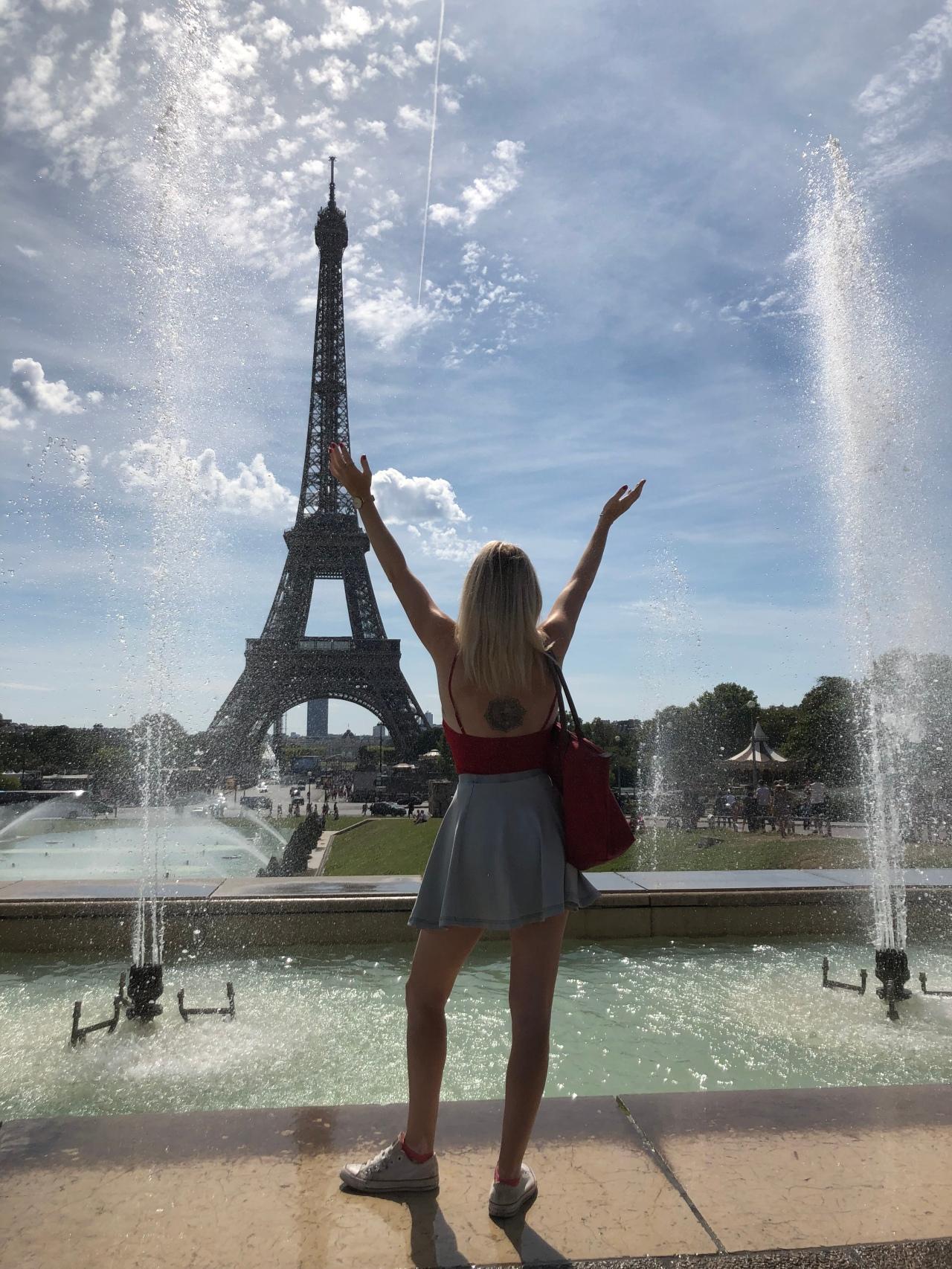 Eiffel Tower fountains Instagram location