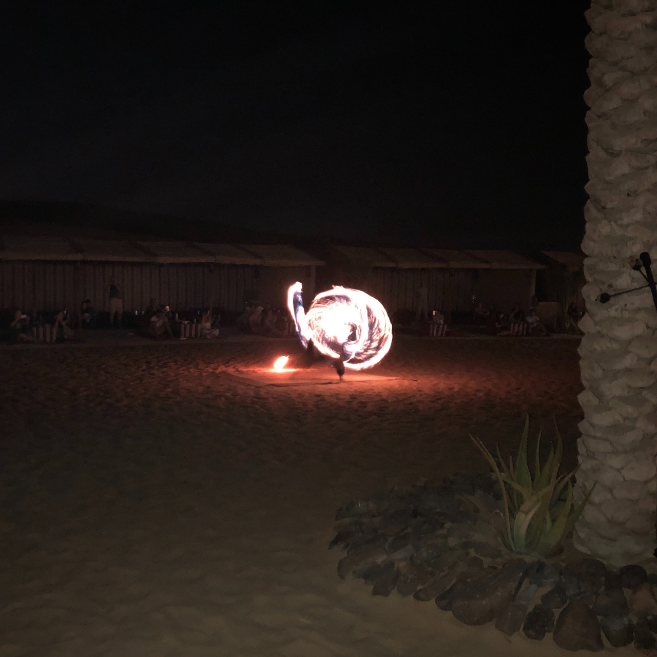 Fire dancer Dubai desert