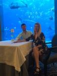underwater dining ossiano dubai atlantis