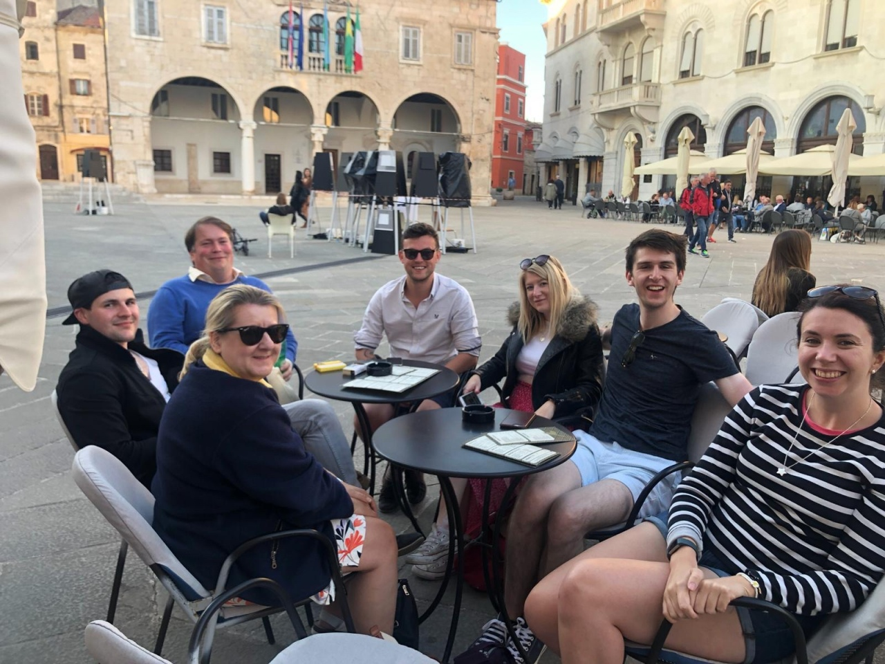 Drinks in Pula square