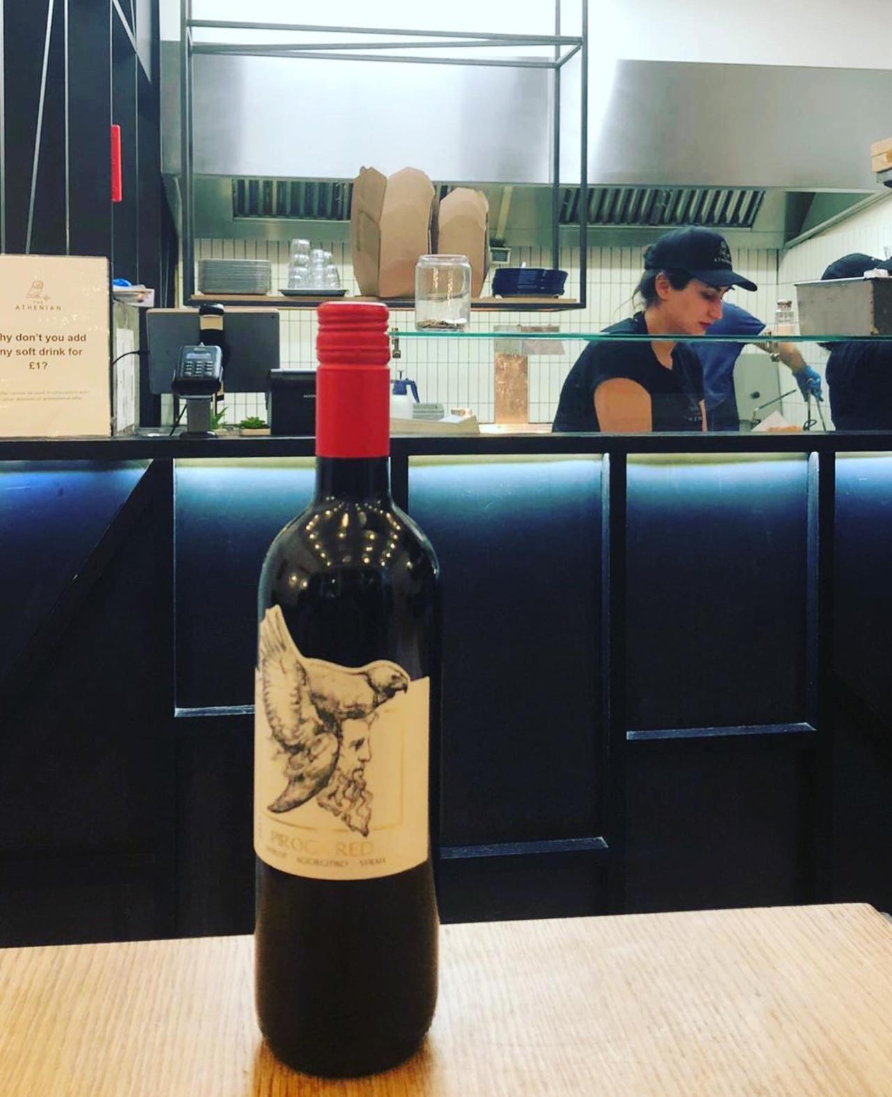 The Athenian Greek red wine