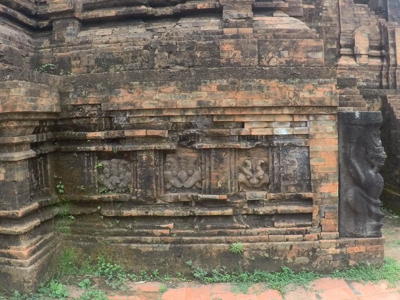 stone carvings My Son temples Vietnam