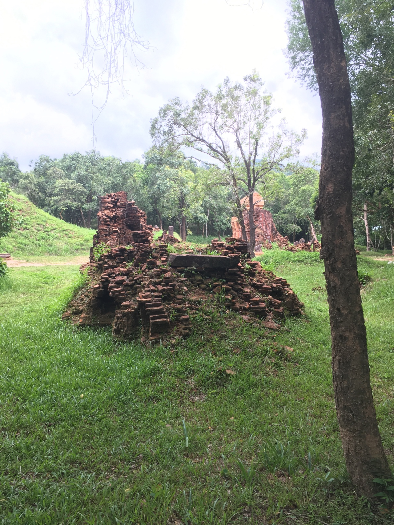 My Son temple Vietnam War damage