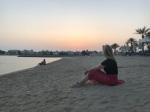 Dubai sunset on the Palm