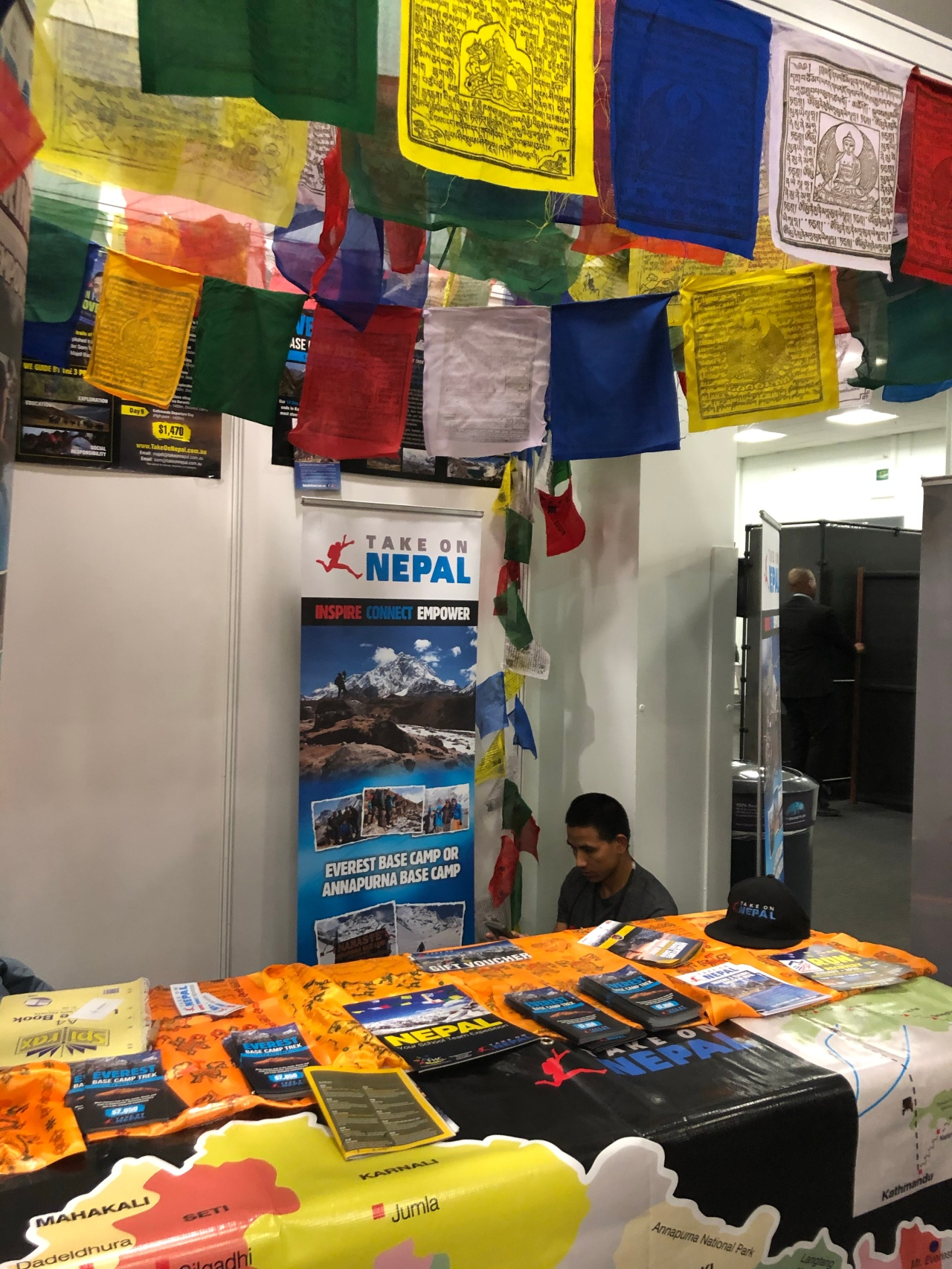 Adventure travel show Nepal stand
